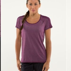 Lululemon Race Me Heathered Plum Tee 8 Reflect